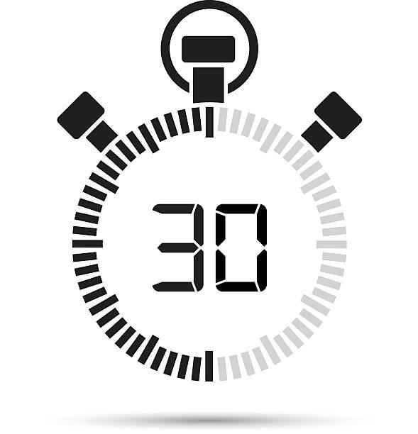 bildbanksillustrationer, clip art samt tecknat material och ikoner med thirty second timer - nummer 30