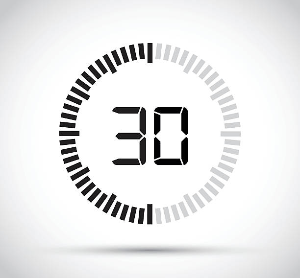 thirty second timer vector art illustration