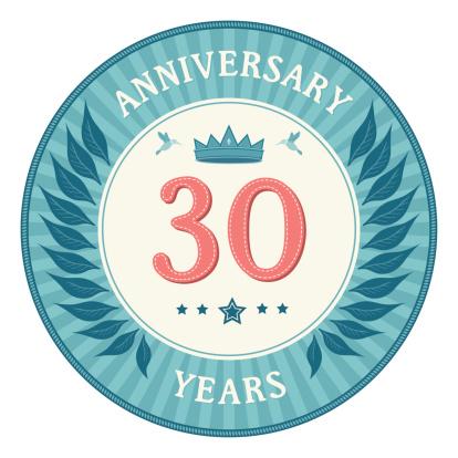 Thirty Years Anniversary Badge