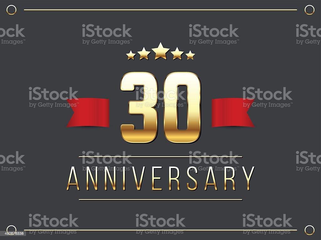 Thirty years anniversary celebration logotype th anniversary