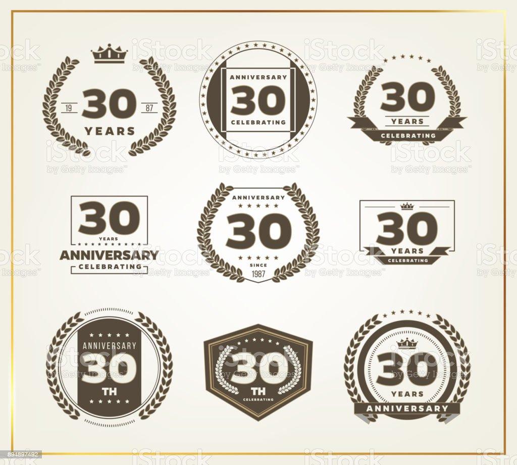 Download Thirty Years Anniversary Celebration Logotype 30th ...