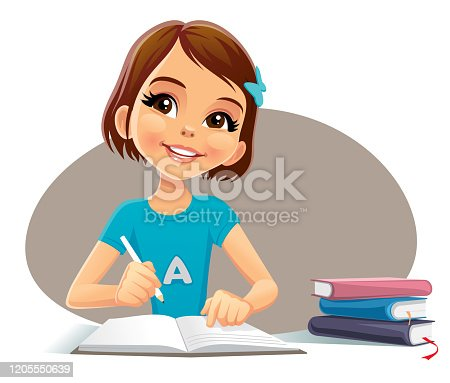 istock this child is writing now 1205550639