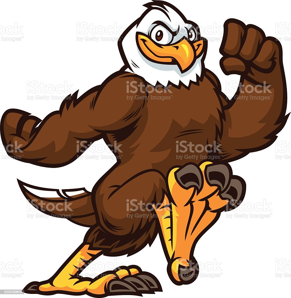 This Eagle is running to sucess vector art illustration