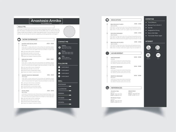 This is a Elegant, Clean Resume/CV This is an Elegant, Clean, Creative, Modern & High-Class Clean Resume/CV. This template download contains a 300 dpi print-ready CMYK Ai files. Size A4. Bleed (0.25inx0.25in). CMYK 300DPI Color Design. Files & Features Size A4 Bleed (0.25inx0.25in) EPS Files CMYK, 300 DPI Fully Print Ready 100% Editable & Customizable 100% Vector & Resizable Elements Bleeds, Guides. free font use. font name nexa business cv templates stock illustrations