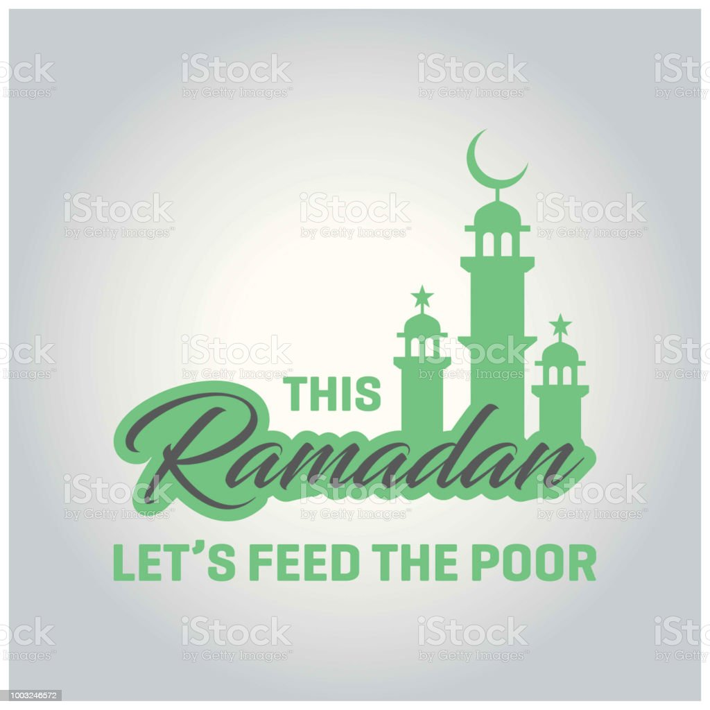 This Ramadan Let's Food The Poor Concept Poster design vector art illustration