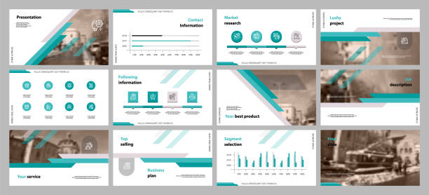 this template is the best as a business presentation, used in marketing and advertising, flyer and banner, the annual report. elements on a dark grey background - графический элемент stock illustrations
