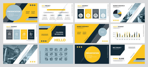 This template is the best as a business presentation, used in marketing and advertising, flyer and banner, the annual report. Elements on a dark grey background This template is the best as a business presentation, used in marketing and advertising, flyer and banner, the annual report. Elements on a dark grey background awards ceremony stock illustrations