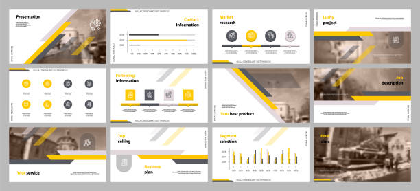 This template is the best as a business presentation, used in marketing and advertising, flyer and banner, the annual report. Elements on a dark grey background This template is the best as a business presentation, used in marketing and advertising, flyer and banner, the annual report. Elements on a dark grey background fashion stock illustrations