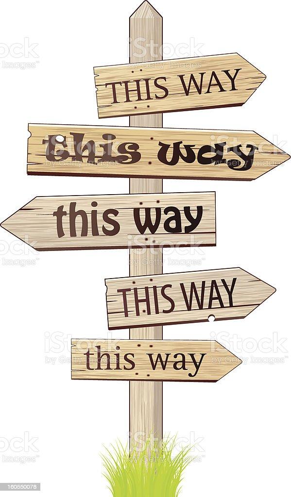 This way. royalty-free stock vector art