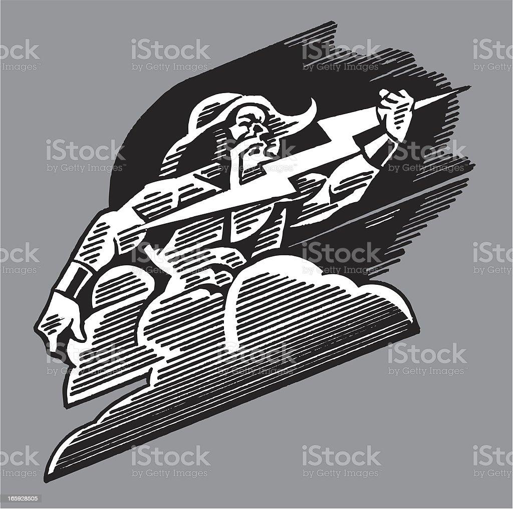 Thor - God of Thunder royalty-free stock vector art