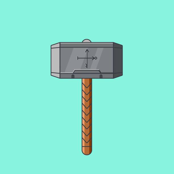 Vector Illustration Hammer: Royalty Free Viking Hammer Clip Art, Vector Images