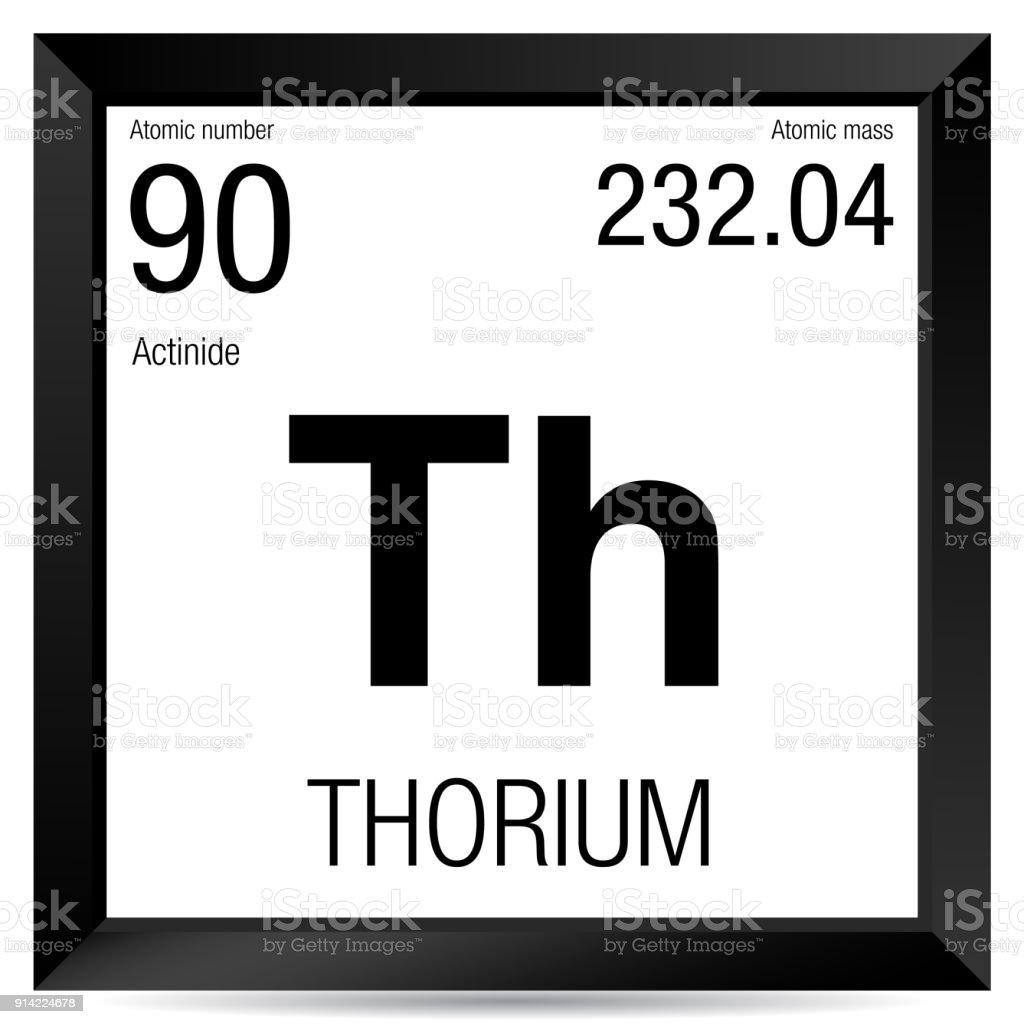 Thorium Symbol Element Number 90 Of The Periodic Table Of The