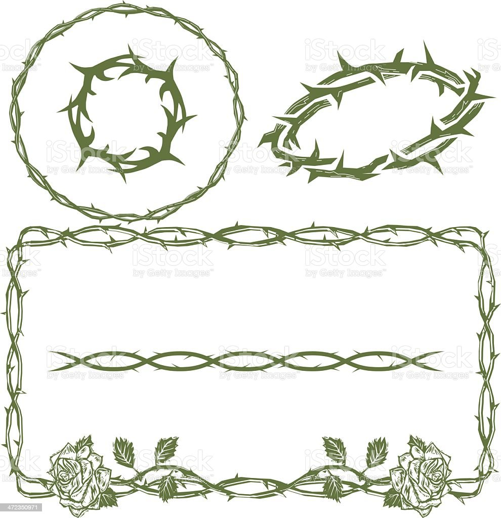 Thorn Collection royalty-free thorn collection stock vector art & more images of circle