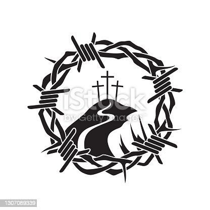 istock thorn crown icon 1307089339