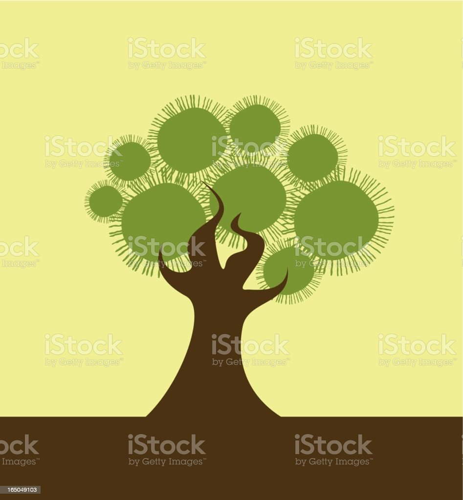 Thorn tree royalty-free stock vector art