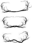 Set of 3 asymmetric thorn frames.
