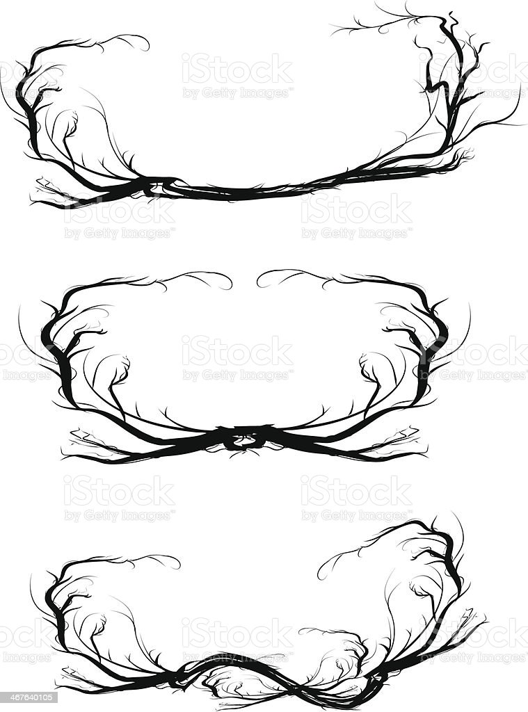 Thorns frame vector art illustration