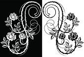 Thorny rose design element