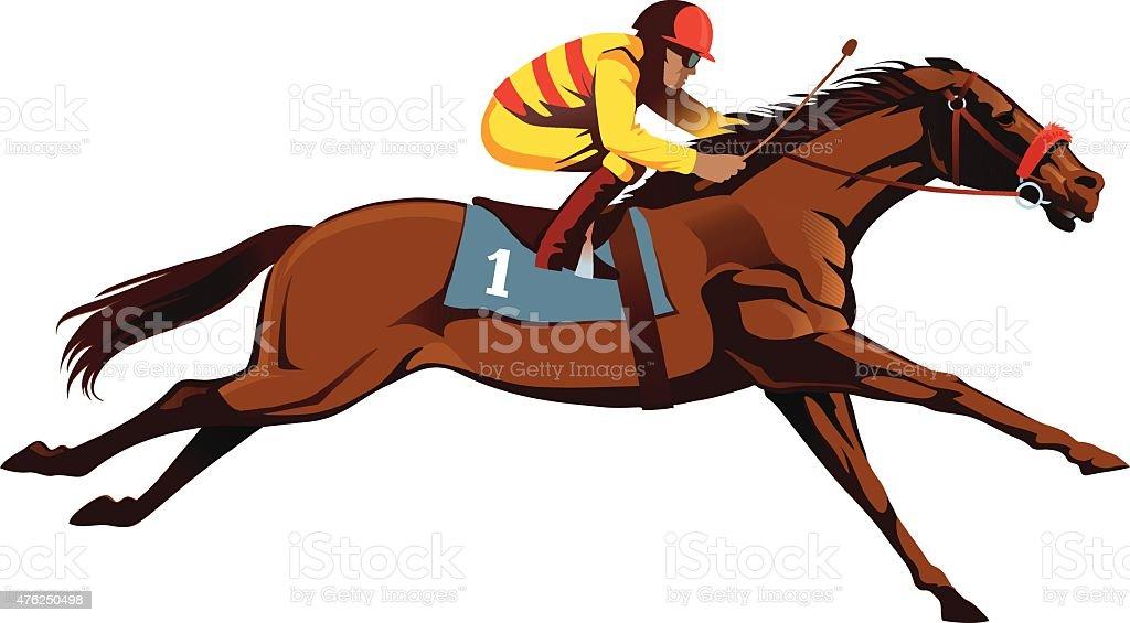 thoroughbred horse racing horseracing stock vector art