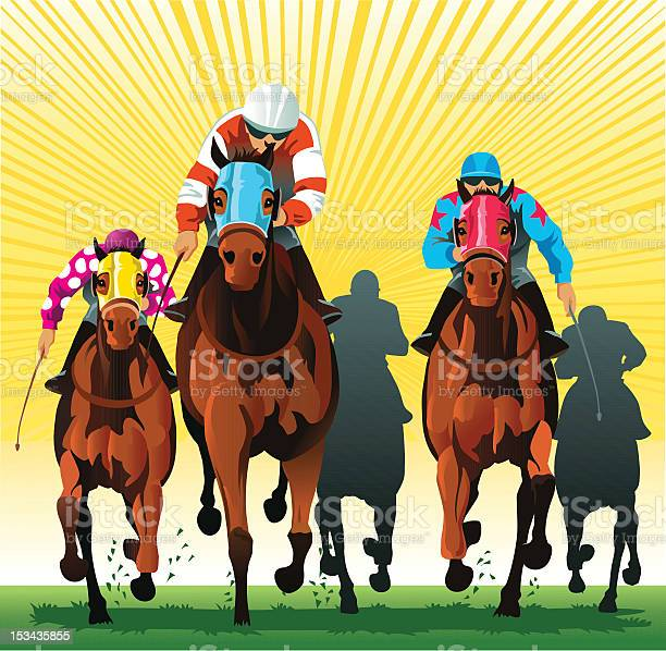 Thoroughbred horses racing to the finish line vector id153435855?b=1&k=6&m=153435855&s=612x612&h=0roli2rdwlkavebxmfqywxm1xhofs7ihjlcj9yekh5q=