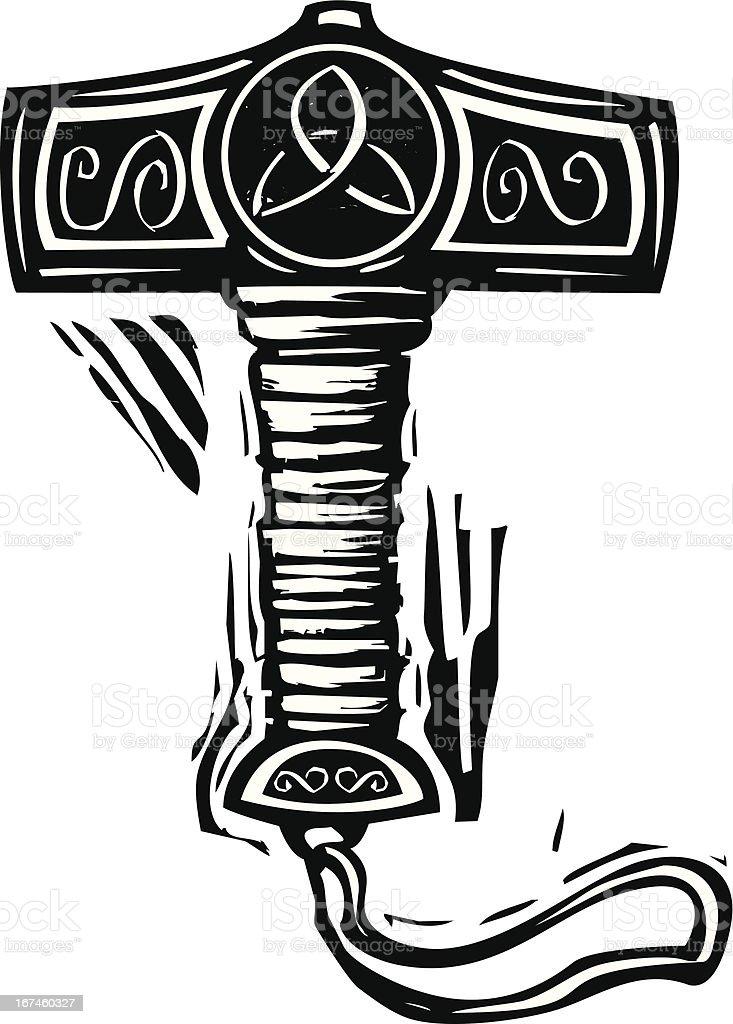 Vetores De Martelo De Thor Mjolnir E Mais Imagens De Conto De