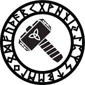 Thors Hammer - Runes