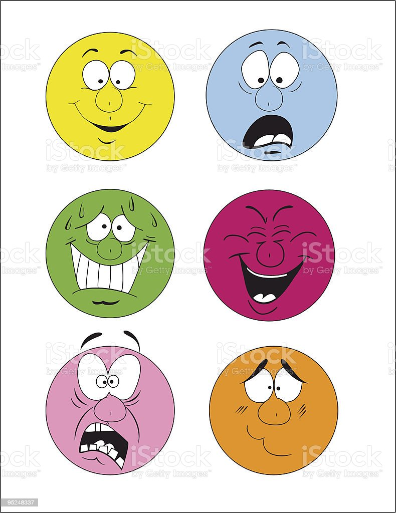 Those depicting human emotion. royalty-free stock vector art