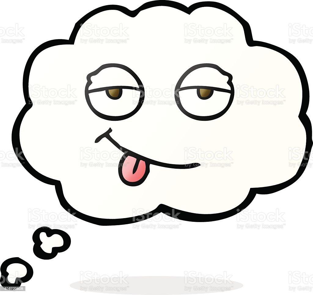 Pensamento Balao De Desenhos Animados Olhos Cansados Arte Vetorial De Stock E Mais Imagens De Balao De Pensamento Istock
