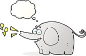 thought bubble cartoon trumpeting elephant