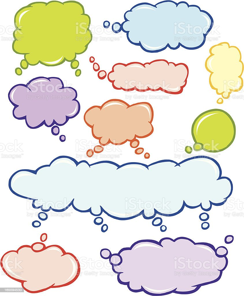 Thought Bubble, Speech Balloons or Talking Cloud royalty-free stock vector art