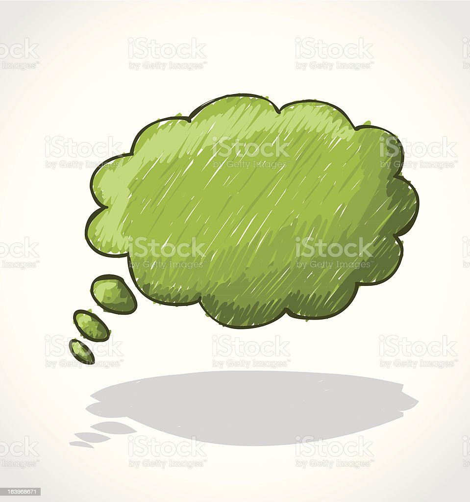 Thought bubble. royalty-free stock vector art