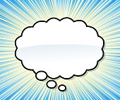 drawn of vector thought bubble.This file has been used illustrator cs3 EPS10 version feature of multiply.