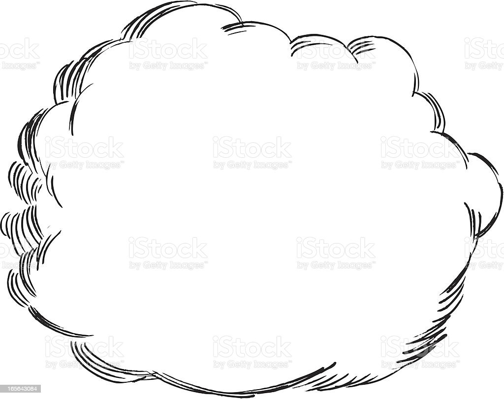 Thought Speech Bubble Or Cloud Stock Vector Art & More ...