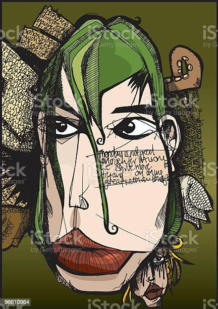 Thoughtful Face-vektorgrafik och fler bilder på Abstrakt