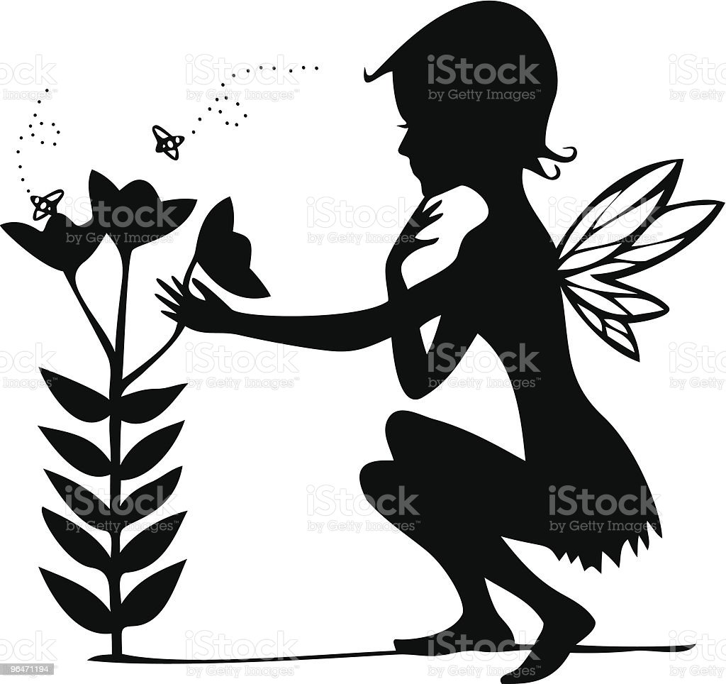 Thoughtful Fairy in Spring royalty-free thoughtful fairy in spring stock vector art & more images of adult