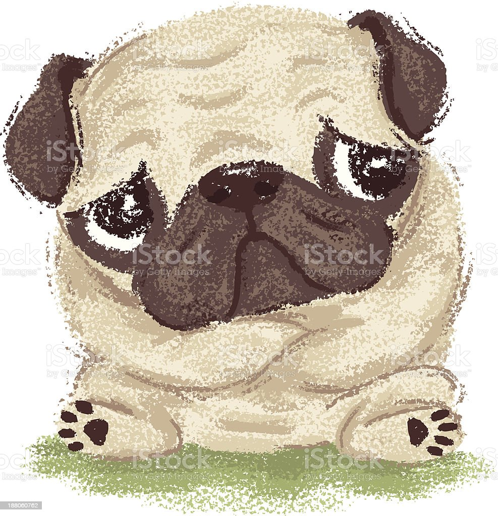 Thoughtful pug royalty-free thoughtful pug stock vector art & more images of animal