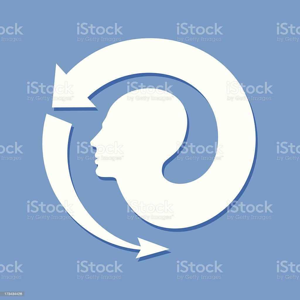 Thoughts and options  vector illustration of head royalty-free thoughts and options vector illustration of head stock vector art & more images of adult