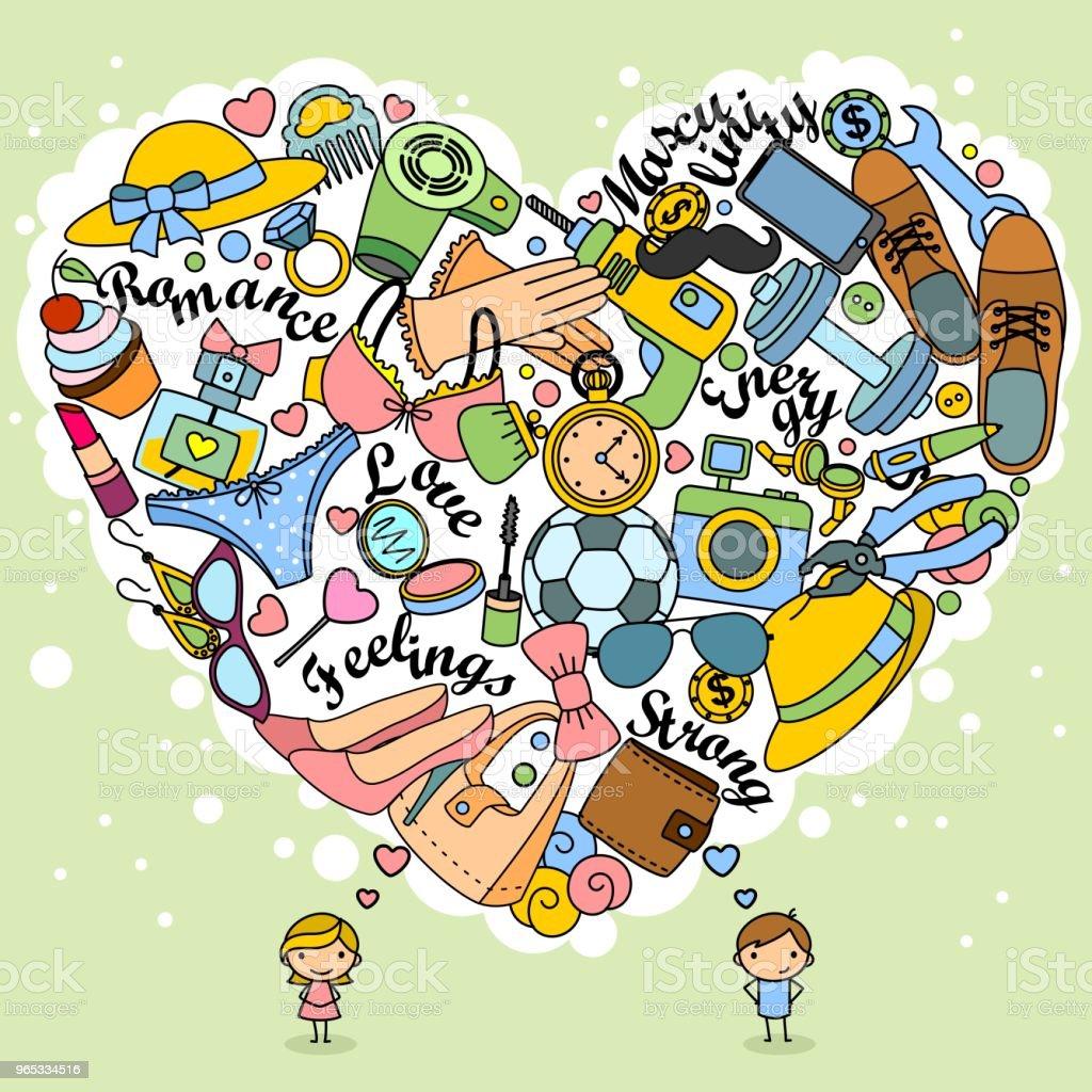 Thoughts love of boys and girls in doodles thoughts love of boys and girls in doodles - stockowe grafiki wektorowe i więcej obrazów aparat fotograficzny royalty-free