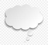 thought bubble communication symbol design element
