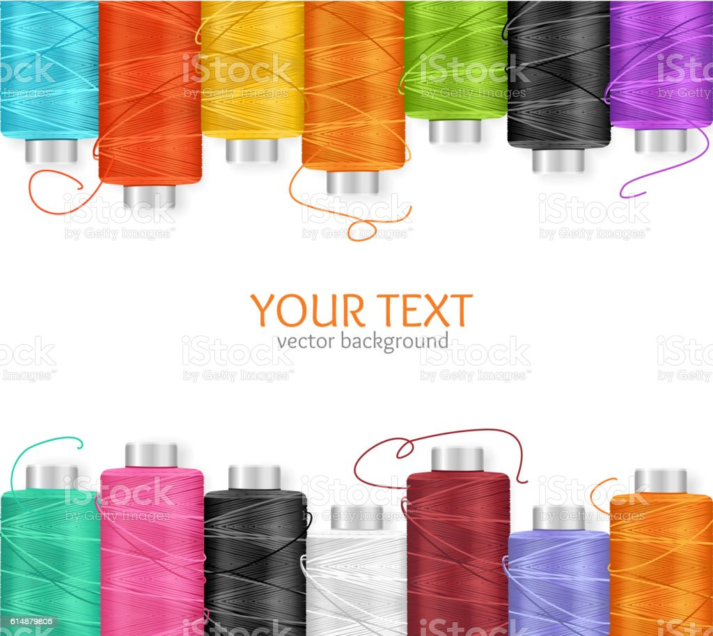 Thread Spool Banner. Vector vector art illustration