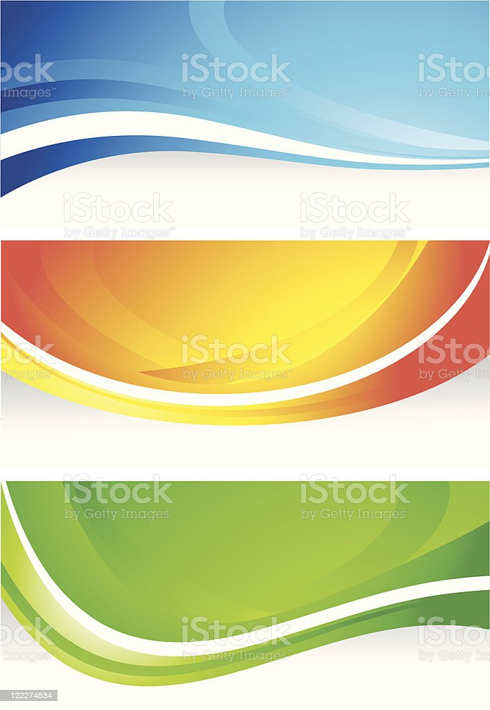 Three abstract banners royalty-free three abstract banners stock vector art & more images of abstract