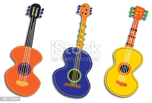 istock Three Abstract Guitars 481704544