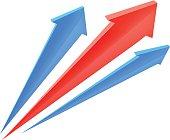 Arrows up. Vector illustration.