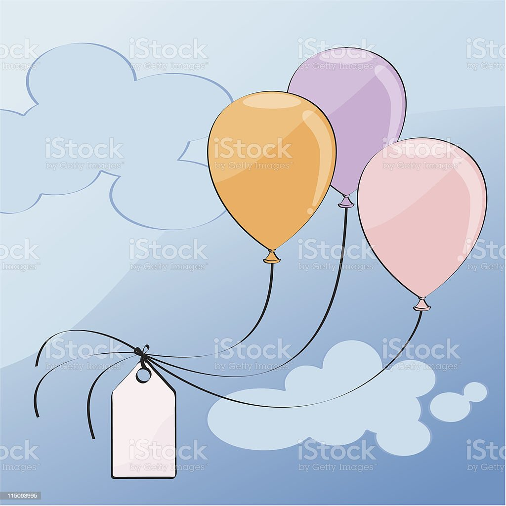 three balloons pastel color royalty-free three balloons pastel color stock vector art & more images of balloon