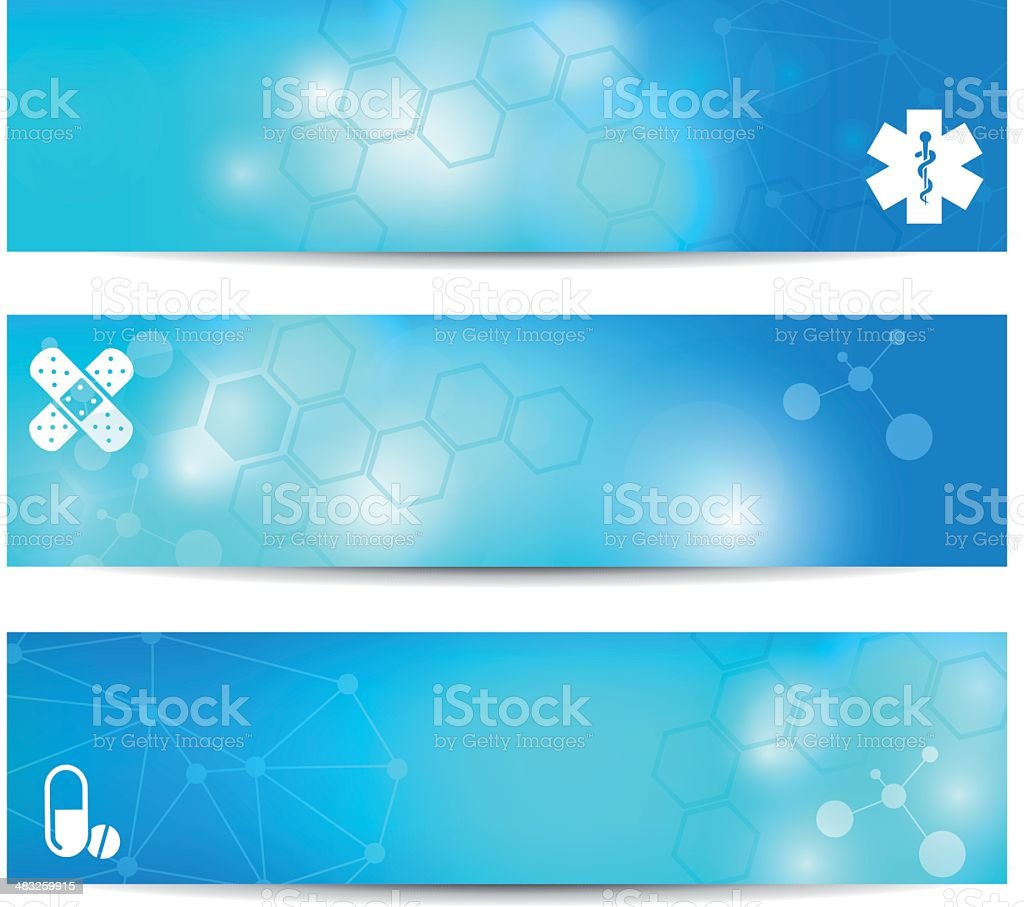 Three banners appropriate for medical content royalty-free three banners appropriate for medical content stock vector art & more images of abstract