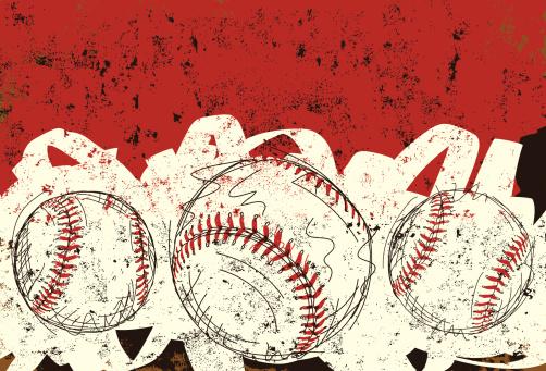 three baseballs