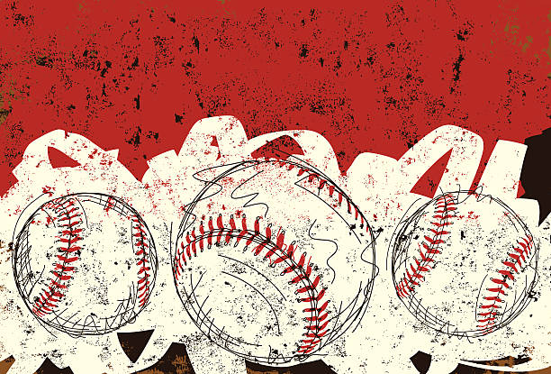 Trois Ballon de baseball - Illustration vectorielle