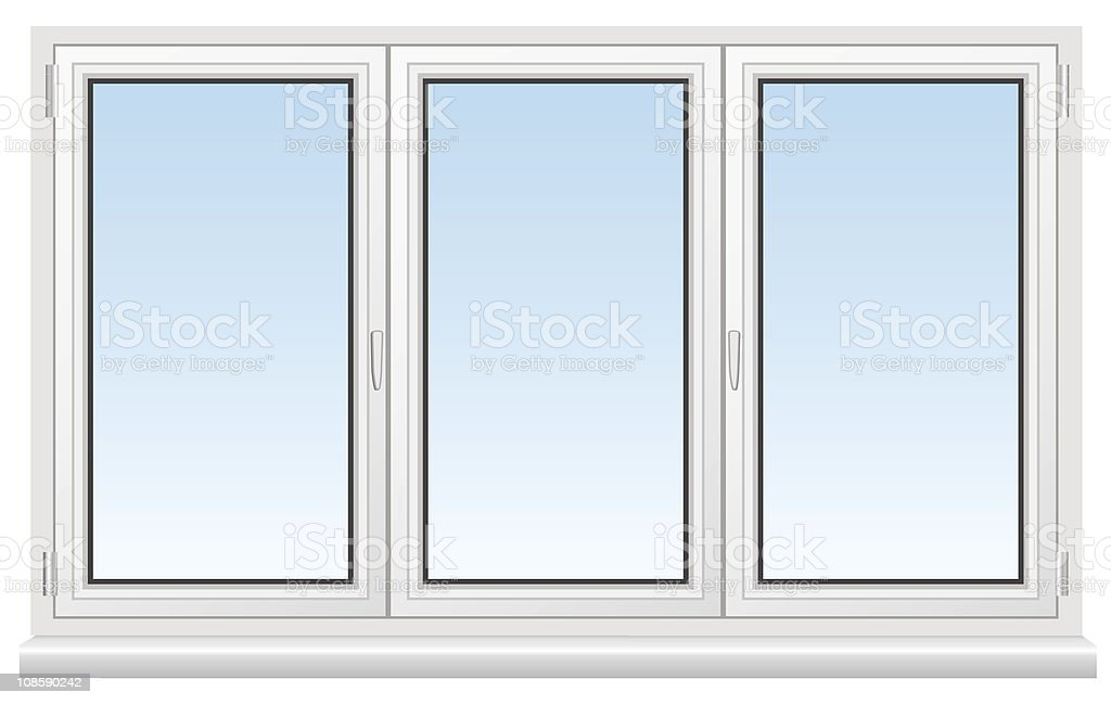 Three basic cartoon white windows stock vector art more for Window design cartoon