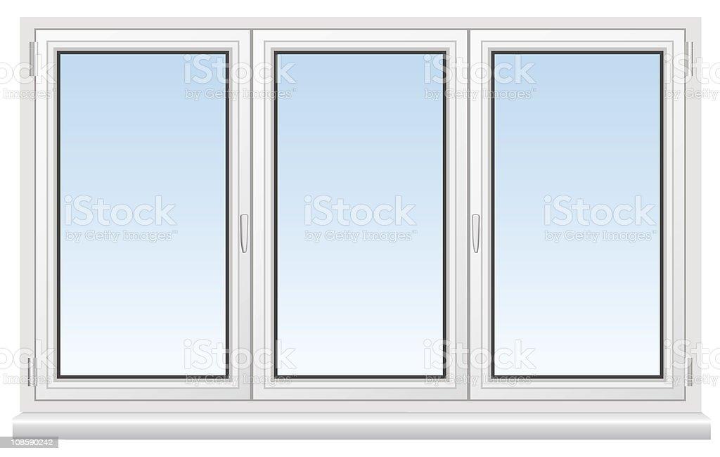 Three basic cartoon white windows vector art illustration