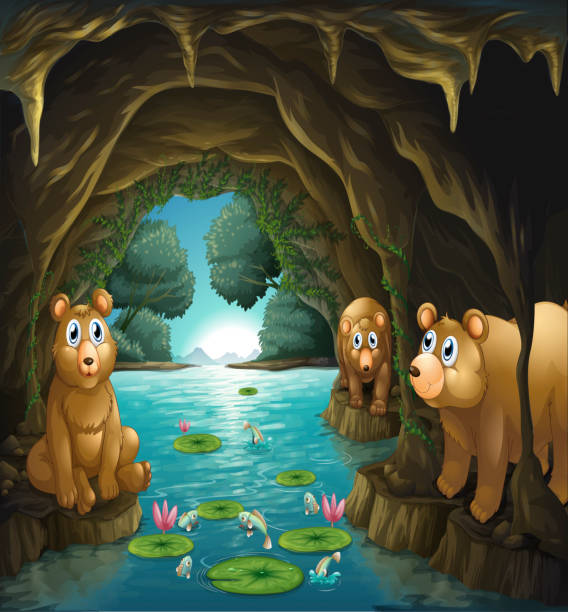 Top 60 Bear Cave Clip Art Vector Graphics And Illustrations Istock